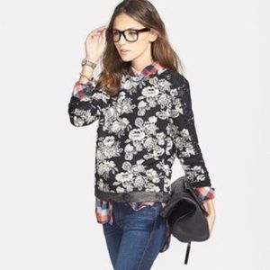 Sweaters - Hinge Nordstrom Floral Lace Detail Sweater